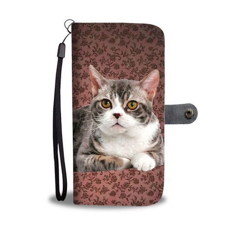 Lovely American Wirehair Cat Print Wallet Case-Free Shipping
