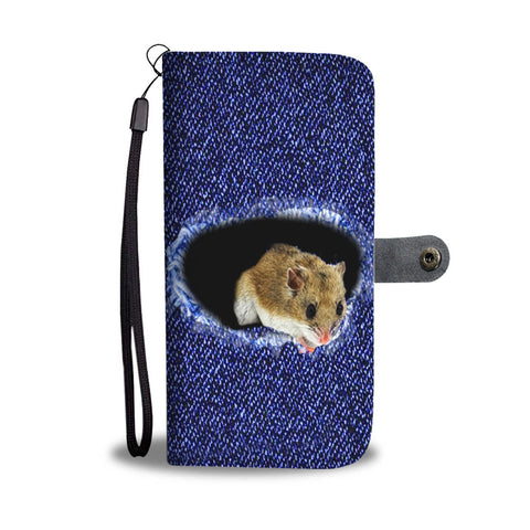 Amazing Chinese Hamster Print Wallet Case-Free Shipping