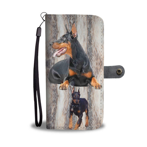 Amazing Doberman Pinscher Dog Print Wallet Case-Free Shipping