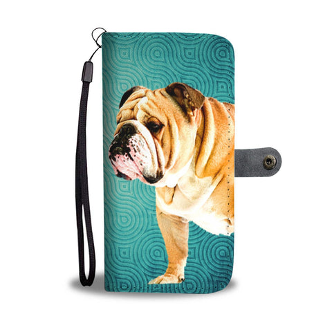 Amazing Two Bulldog Print Wallet Case-Free Shipping