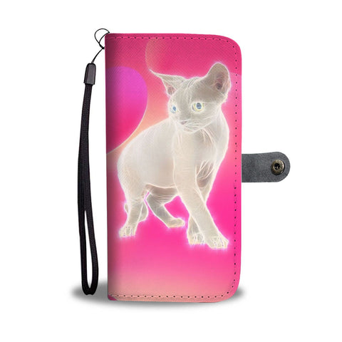 Amazing Devon Rex Cat Print Wallet Case-Free Shipping