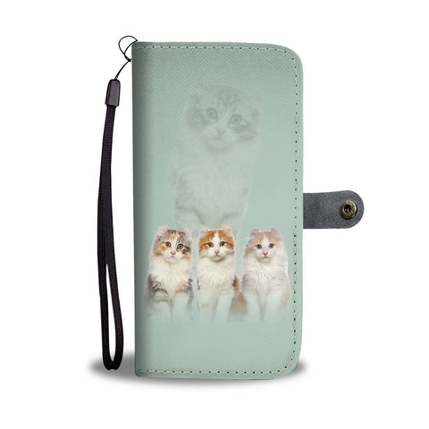 American Curl Cat Print Wallet Case-Free Shipping