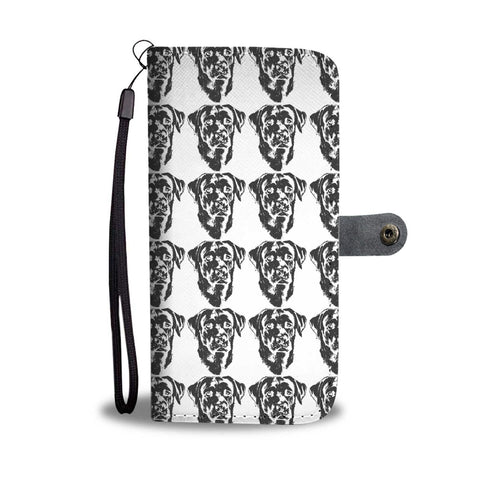 Amazing Labrador Retriever Dog Black&White Pattern Print Wallet Case-Free Shipping