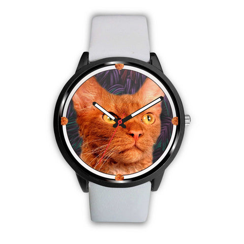 Lovely LaPerm Cat Print Wrist Watch - Free Shipping