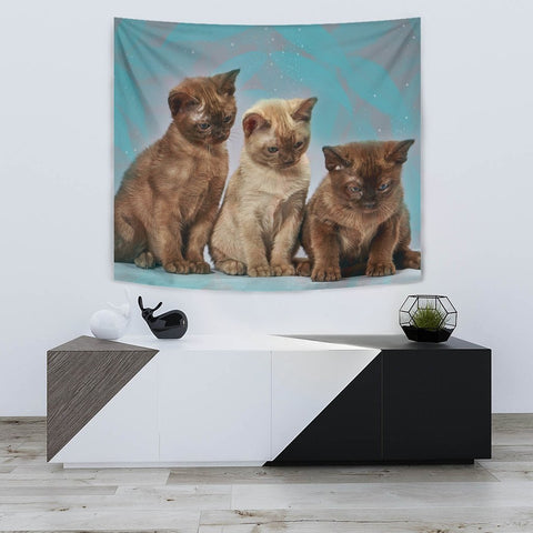 Lovely Burmese Cat Print Tapestry-Free Shipping