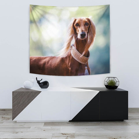 Lovely Saluki Dog Print Tapestry-Free Shipping