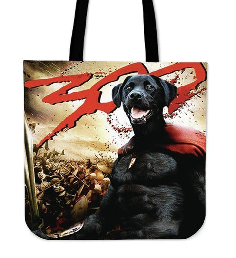 '300' Movie Style Labrador Tote bag - Free Shipping-Paww-Printz-Merchandise