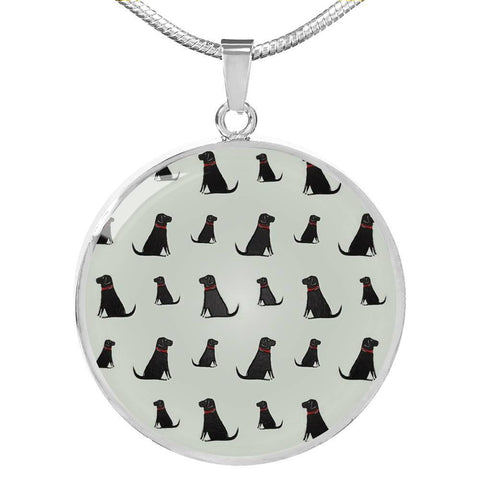 Labrador Retriever Pattern Print Luxury Necklace-Free Shipping