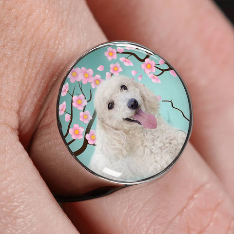 Poodle Dog Print Signet Ring-Free Shipping