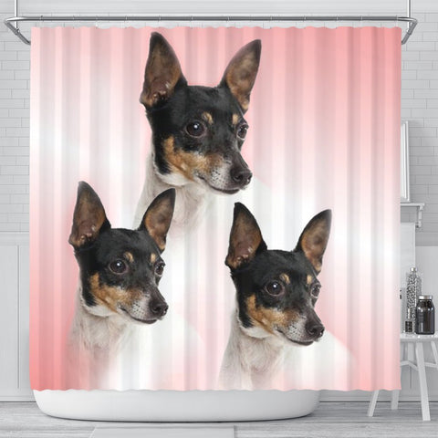 Toy Fox Terrier Print Shower Curtain-Free Shipping
