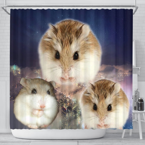 Roborovski Hamster Print Shower Curtains-Free Shipping