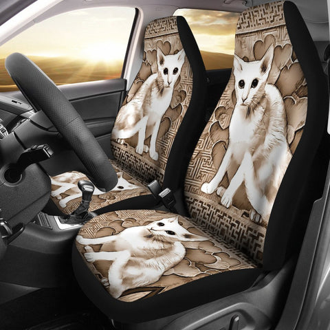 Oriental Shorthair Cat Print Car Seat Covers-Free Shipping