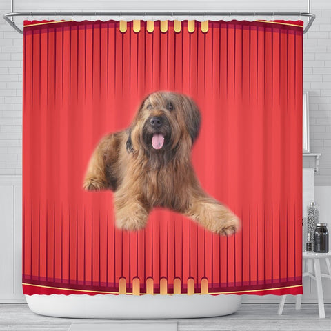 Briard Dog Print Shower Curtain-Free Shipping