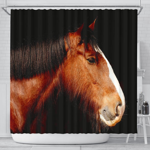 Shire Horse Print Shower Curtains-Free Shipping