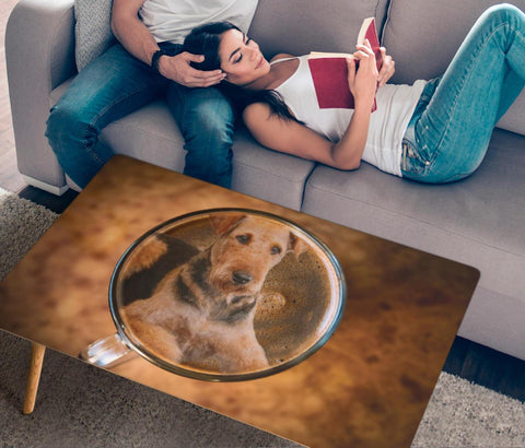 Airedale Terrier Print Rectangular Coffee Table