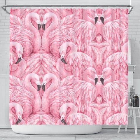 Flamingo Print Shower Curtains-Free Shipping