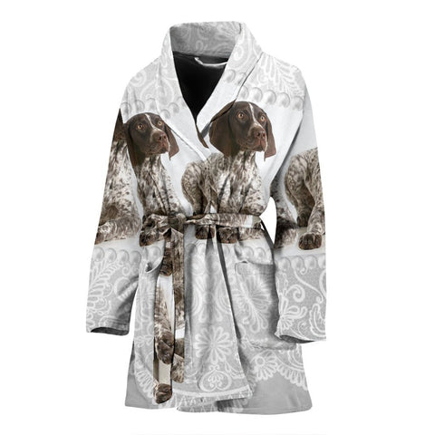 Amazing English Springer Spaniel Dog Print Women's Bath Robe-Free Shipping