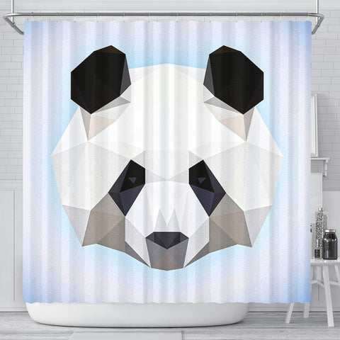 Lovely Panda Art Print Shower Curtains-Free Shipping