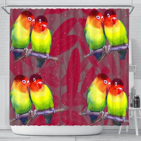 Love Bird Print Shower Curtains-Free Shipping