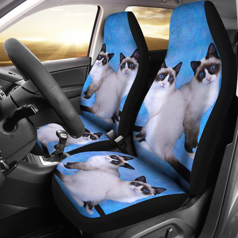 Lovely Snowshoe Cat Print Car Seat Covers-Free Shipping