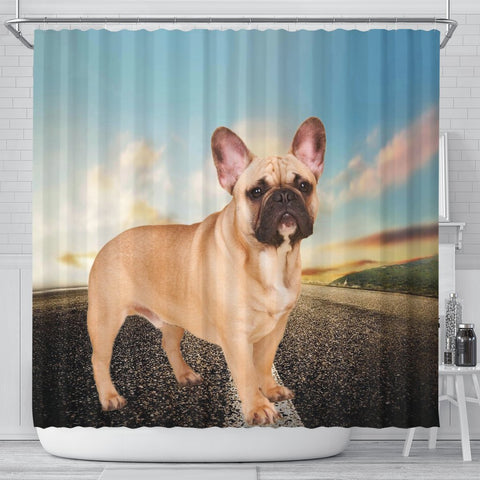 Cute French Bulldog Print Shower Curtains-Free Shipping