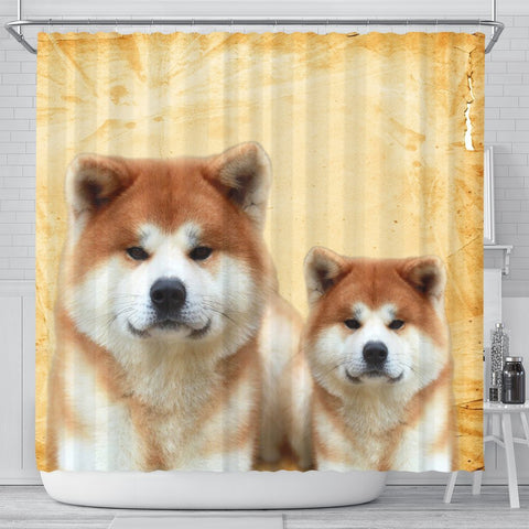 Akita Dog Print Shower Curtains-Free Shipping