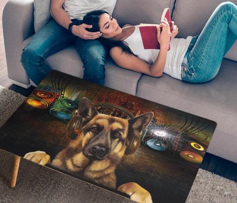 Amazing German Shepherd Dog Print Rectangular Coffee Table