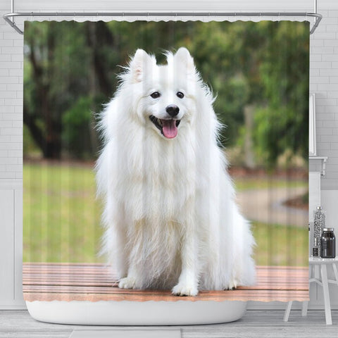Spitz Dog Print Shower Curtains-Free Shipping