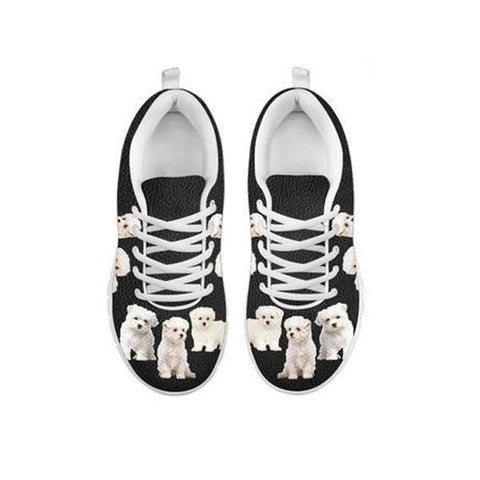 Multi Maltese Dog Print Running Shoes For Women-Free Shipping-For 24 Hours Only