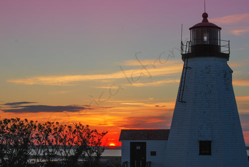Lighthouse at Sunset Print