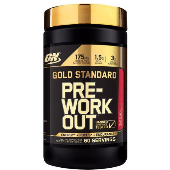 Optimum Nutrition Gold Standard Pre-Workout | Fruit Punch | 60 Servings | ONE PACK