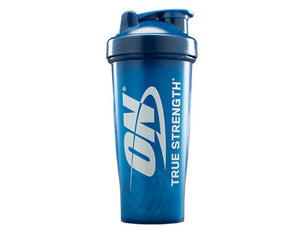 Optimum Nutrition Blender Bottle Shaker | Royal Blue | ON True Strength Logo