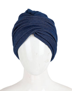 denim turban