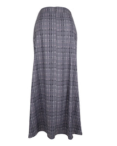 Back view of a-line maxi skirt