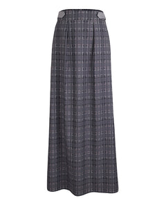 Grey plaid Maxi Skirt