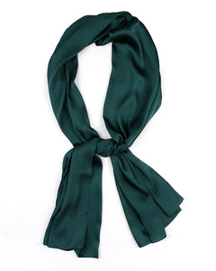 Army green satin scarf
