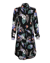 Black Floral Tunic