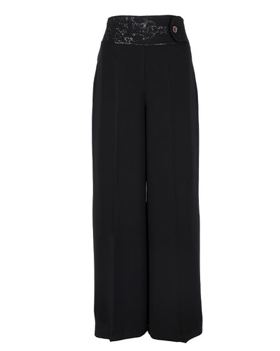 Front view of Black Palazzo Pants