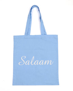 Blue Salaam Tote Bag
