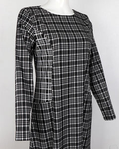 Checkered Monochrome Dress