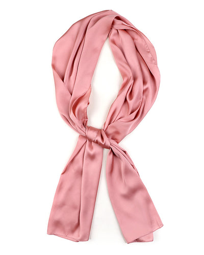 Coral Satin Scarf