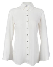 White Frill Neck Blouse