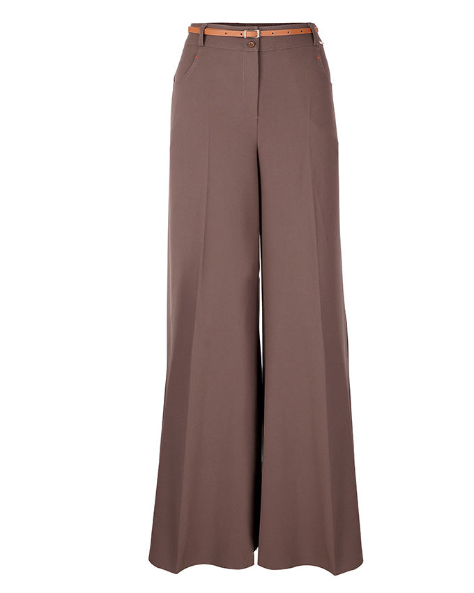front view of grey palazzo pants