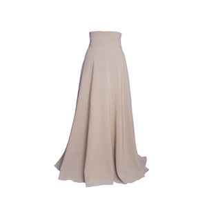 Tan high waist maxi skirt