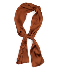 Honey satin scarf