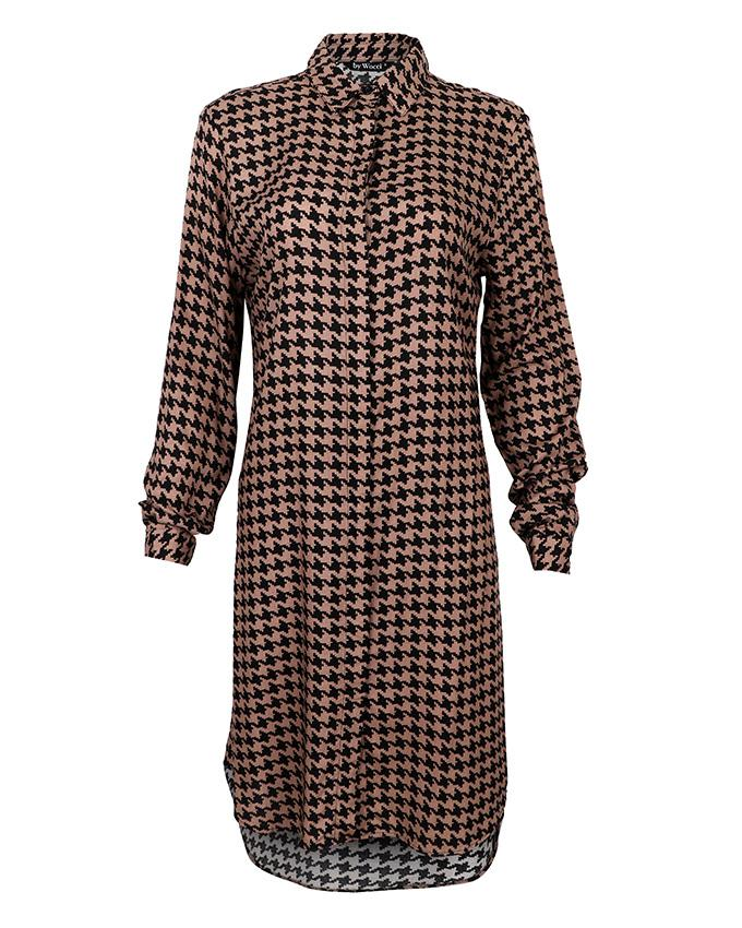 Brown Houndstooth Tunic