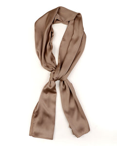 Tan satin scarf