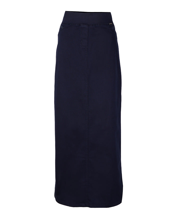 Navy blue straight skirt