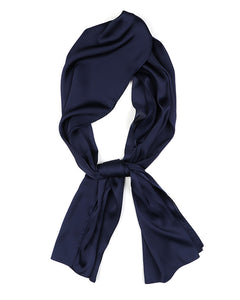 Navy Blue Satin Scarf
