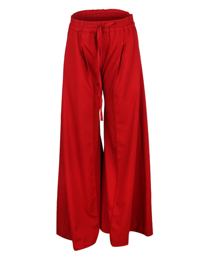 Bordeaux Palazzo Pants with draw string waist